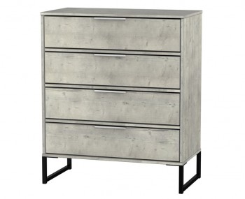 Carlos Concrete 4 Drawer Chest