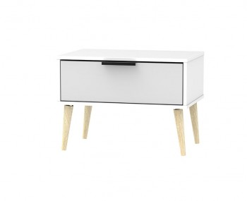 Hong Kong Grey Matt 1 Drawer Wide Nightstand Chest