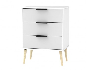 Hong Kong Grey Matt 3 Drawer Chest