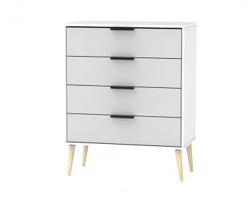 Hong Kong Grey Matt 4 Drawer Chest