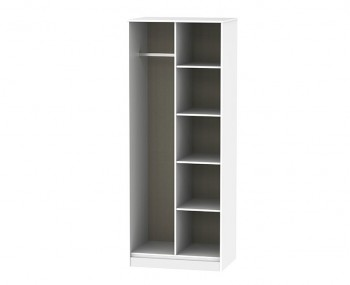 Hong Kong Grey Matt Open Shelf Wardrobe