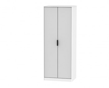 Hong Kong Grey Matt 2 Door Wardrobe