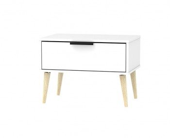Hong Kong White Matt 1 Drawer Midi Chest