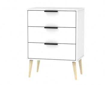 Hong Kong White Matt 3 Drawer Chest