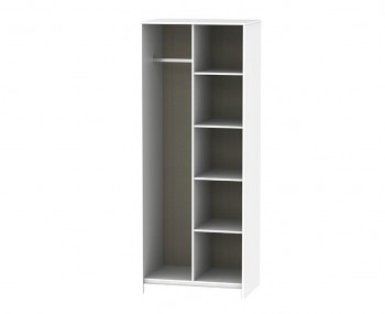 Hong Kong White Matt Open Shelf Wardrobe