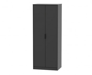 Hong Kong Black Matt 2 Door Wardrobe