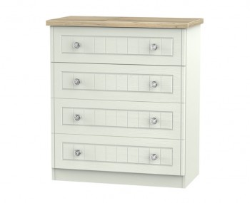 Naples Kaschmir Two–Tone And Crystal 4 Drawer Chest