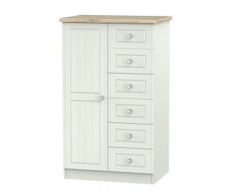 Naples Kaschmir Two–Tone And Crystal Children's Wardrobe With Drawers