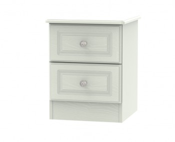 Crystal Kashmir Ash 2 Drawer Bedside Chest