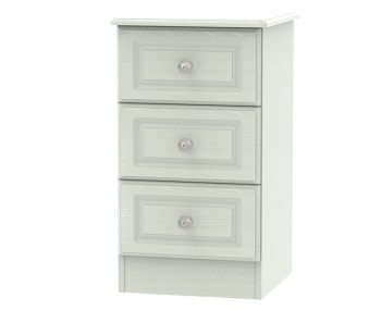 Crystal Kashmir Ash 3 Drawer Bedside Chest