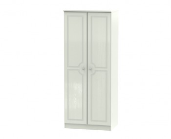 Crystal Kashmir Ash 2 Door Narrow Wardrobe