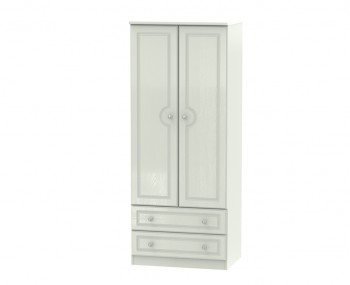 Crystal Kashmir Ash 2 Door 2 Drawer Wardrobe