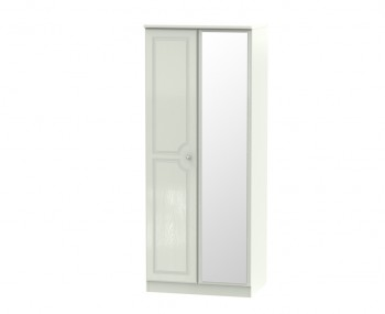 Crystal Kashmir Ash 2 Door Mirrored Wardrobe