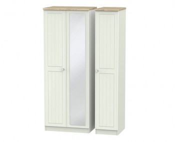 Naples Kaschmir Two-Tone And Crystal Triple Mirror Wardrobe