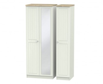 Naples Kaschmir Two-Tone And Crystal Tall Triple Mirror Wardrobe