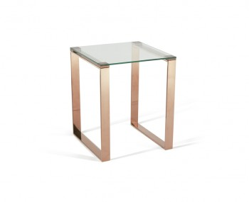 Kayla Rose Gold Lamp Table