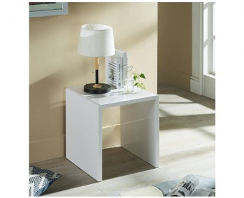 Manhattan White High Gloss Lamp Table