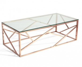 Phoenix Rose Gold Coffee Table