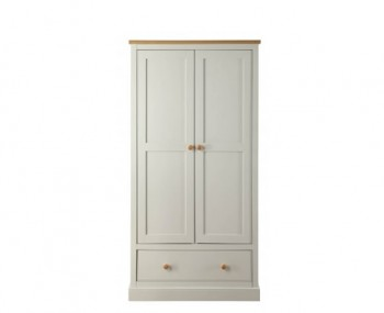 Dove Grey and Ash 2 Door Wardrobe