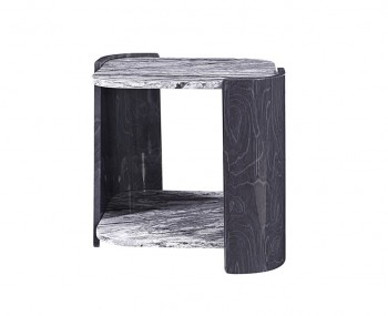 Sorrento Grey & Marble Lamp Table