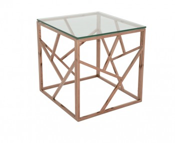 Phoenix Rose Gold Lamp Table