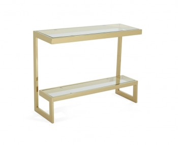 Mera Gold Console Table