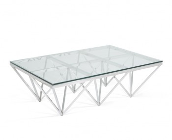 Star Rectangular Silver Coffee Table
