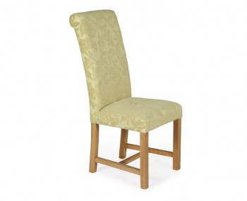 Greenwich Oatmeal Floral and Oak Dining Chair