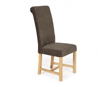 Greenwich Brown Fabric Oak Dining Chair