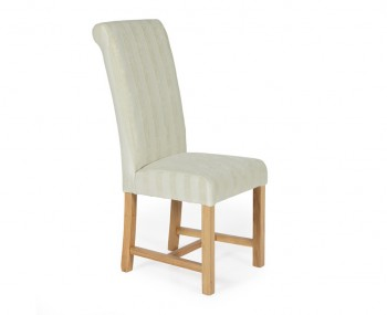 Greenwich Cream Stripe and Oak Dining Chair