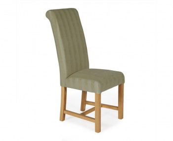 Greenwich Sage Stripe and Oak Dining Chair