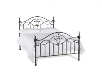 Elton Black Nickel Bedframe