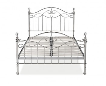 Elton Shiny Nickel Bedframe