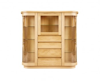 Sierra Oak & Glass Large Display Unit