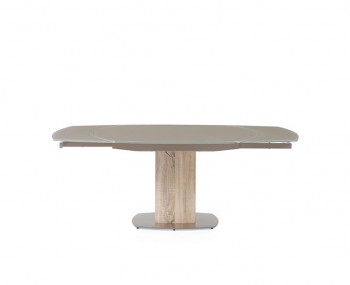 Rowan Taupe Glass Extending Dining Table
