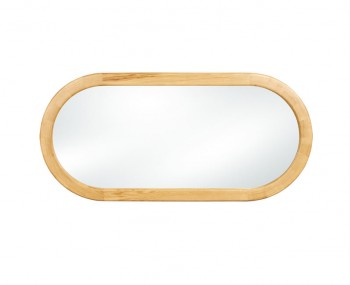 Sierra Oak Oval Mirror