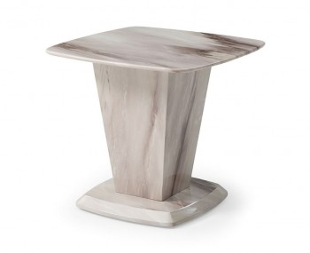 Montrose Cream Marble Lamp Table
