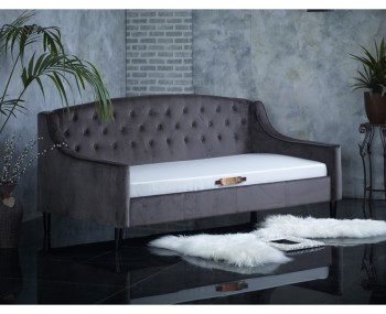 Laboury Grey Velvet Day Bed