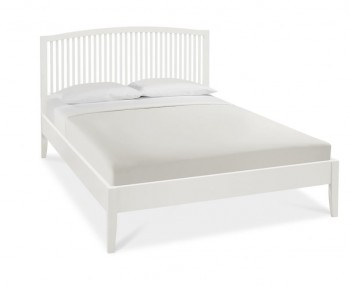 Austin White Slatted Bed Frame