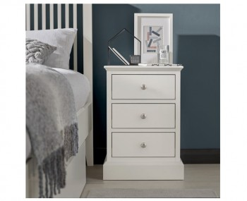 Austin White 3 Drawer Bedside Chest
