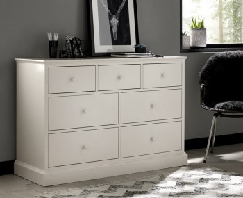 Austin White 3+4 Drawer White Chest