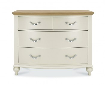 Montreux Antique White & Oak 2+2 Drawer Chest