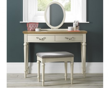 Montreux Antique White & Oak Single Dressing Table