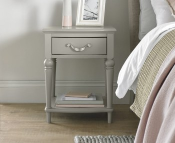 Montreux Urban Grey Bed 1 Drawer Nightstand