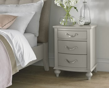 Montreux Urban Grey 3 Drawer Bedside Chest