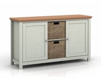 Cotswold Grey and Oak 2 Door Sideboard