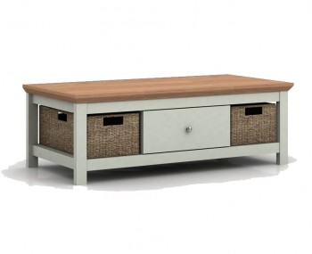 Cotswold Grey and Oak Coffee Table