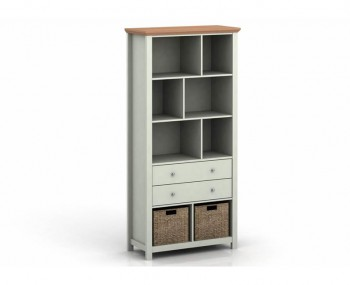 Cotswold Grey and Oak Bookcase
