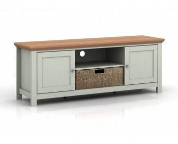 Cotswold Grey and Oak TV Unit