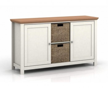 Cotswold Cream and Oak 2 Door Sideboard